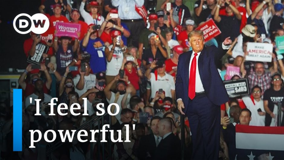 Trump boasts of COVID immunity at first rally since diagnosis   DW News