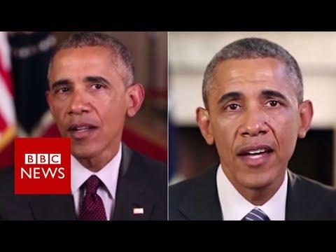 Fake Obama created using AI video tool – BBC News