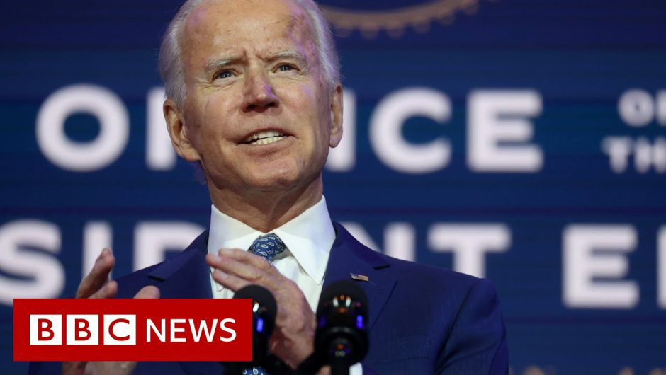 US election: Biden urges mask-wearing to save 'thousands of lives'  – BBC News
